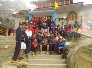 The students of The Lawerence School ,Sanawar,Solan at Hotel Apple Pie Rakchham