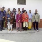 Tourist group at hotel apple pie kalpa kinnaur himachal pradesh