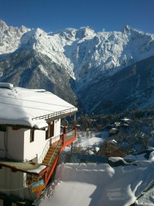 another view of one of the hotels in kinnaur,kalpa