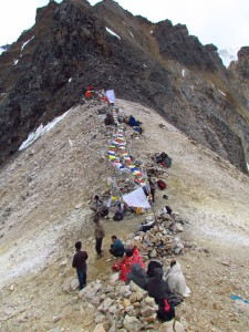 the top of charang la- kinner kailash trek