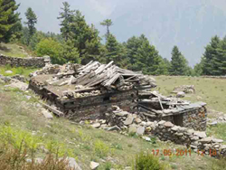 Trekking route in Kinnaur